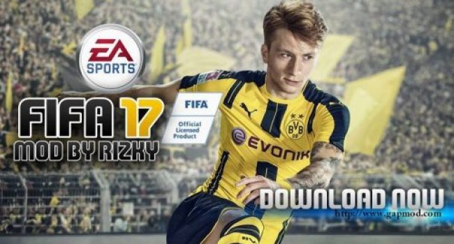 FIFA 17 Android v2 MOD by Rizky (Apk+Obb+Save Data)
