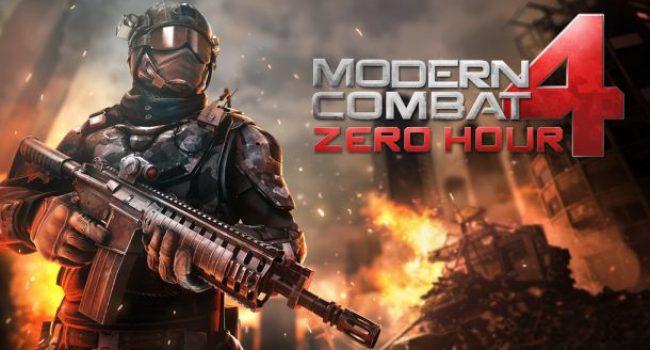 Modern Combat 4: Zero Hour APK Data Mod v1.2.2e Terbaru