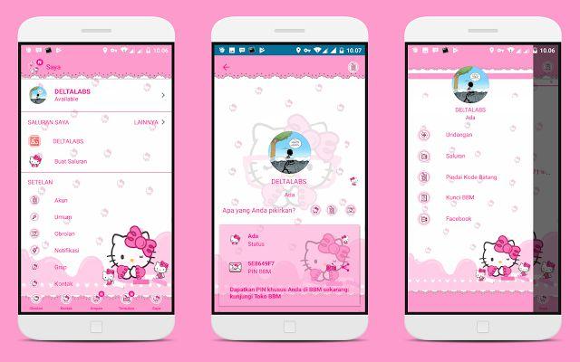 BBM MOD Pink Hello Kitty (Base v3.3.7.97) Terbaru